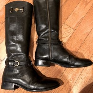 Tory Burch black riding boots size 11